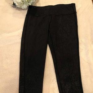 Athleta Vertical Shimmer Black Leggings, Size M